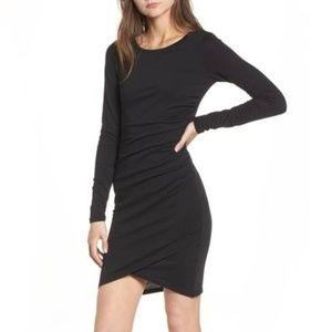 Leith Black Ruched Dress from Nordstrom Size M